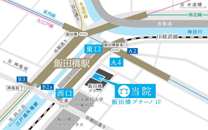 飯田橋藤原眼科マップ